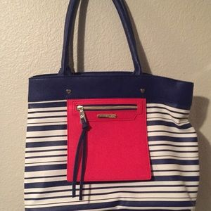 Betsey Johnson Red, White and Blue Tote Bag